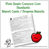 First Grade Common Core Progress Report