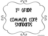 First Grade Common Core Standards Posters