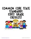 First Grade Core Curriculum State Standards Checklist