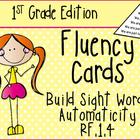 First Grade Sight Word Fluency Triangles RF.1.4