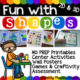 Geometry for 1st Grade MEGA Unit: Fun with Shapes! 2D and
