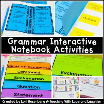 First Grade Grammar Interactive Notebook