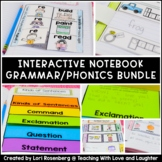 First Grade Grammar and Phonics Interactive Notebook Bundle