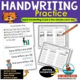 First Grade Handwriting Practice - Comparison Words