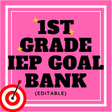First Grade IEP Goal Bank (editable)