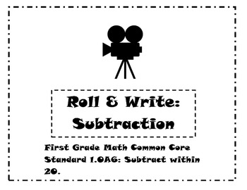 First Grade Math Common Core Standard 1.OA6 Game: Roll & W