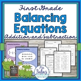 First Grade Math {Frog Math} Balancing Equations Add AND Subtract