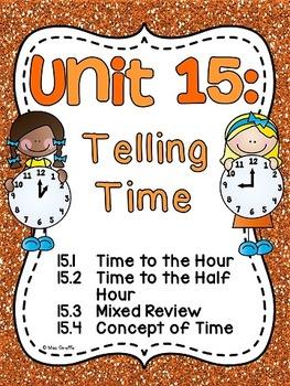 First Grade Math Unit 15