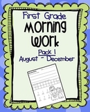 First Grade Morning Work Pack 1 (August-December)