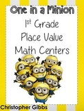 First Grade Place Value Centers Minion Themed