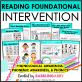 First Grade RTI: Phonological Awareness & Word Recognition
