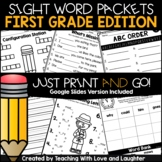 First Grade Sight Word Packets