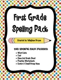 First Grade Spelling Pack
