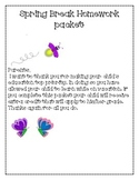 First Grade Spring Break Packet-Mini