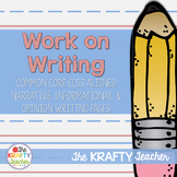 Year Long - First Grade Work on Writing - Narrative, Opini