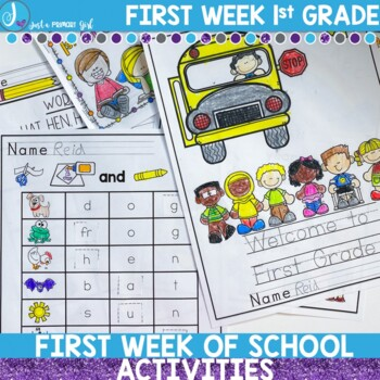 First Week of First Grade Activity and Assessment Pack