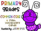 First and Second Grade Common Core Math Vocabulary