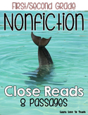 First and Second Grade Nonfiction Close Reads