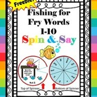 Fishing for Fry Words FREEBIE