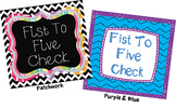 Fist to Five Comprehension Signals Chart (Patchwork)