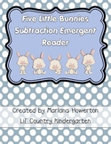 Five Little Bunnies Subtraction Emergent Reader for Easter