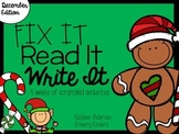 Fix It! Read It! Write It! December Sentence Scrambles