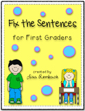Fix the Sentences for First Graders