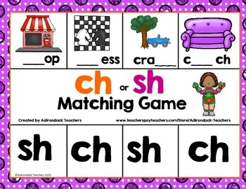 Flash Freebie ! CH or SH Matching Digraph game