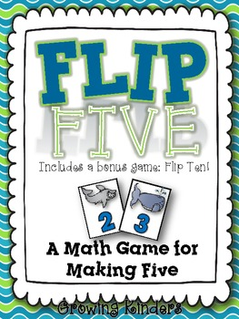 Flip Five! A Math Game for Making Five {Ocean}
