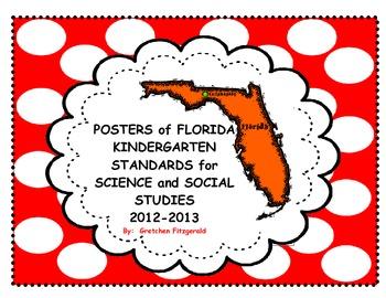 Florida Kindergarten Science and Social Studies Standards Posters