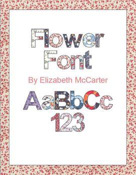 Flower Font Clip Art