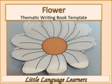 Flower-Thematic Writing Book Template
