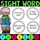 Sight Word Fluency Phrases Set 1