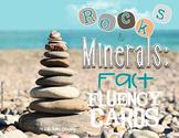 Fluency Task Cards {Rocks & Minerals Facts}