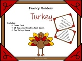 Fluency Task Cards - Turkey Theme