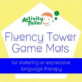 Fluency Tower Game Mats for stuttering or expressive langu
