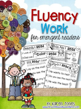 Fluency Work for emergent readers