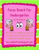 Focus Board for Kindergarten