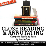 Close Read & Annotate Any Text Complete Teaching Pack, PPT