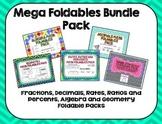 Foldables Math Bundle Pack: Fractions, Decimals, Ratios, A