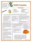 Following Directions Activity: Goblin Cupcakes (Reading Co