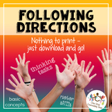 Following Directions Game & No-Print Version