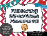 Following Directions Pizza Party! {2, 3, & 4 step directions}