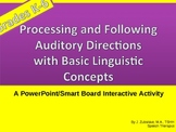 Following Oral Directions with Basic Linguistic Concepts: