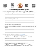 Food Allergy Guided and/or Independent WebQuest