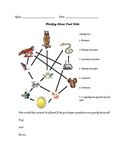 Food Chain - Food Web Worksheet and Simulation Activity Cards