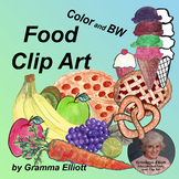Food Clip Art - Fruits - Vegetables - Cake - Pie - Pizza -