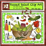 Food Clip Art - Fresh Vegetables for Tossed Salad by Charl