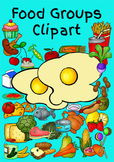 "Food Clipart - All Food Groups with a little ""Junk Food"" a"