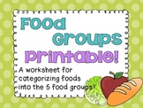 Food Groups Printable!